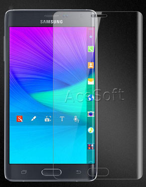 deal Samsung Galaxy Note Edge SM-N915V Net10 Transparent Screen Temperedglass Film